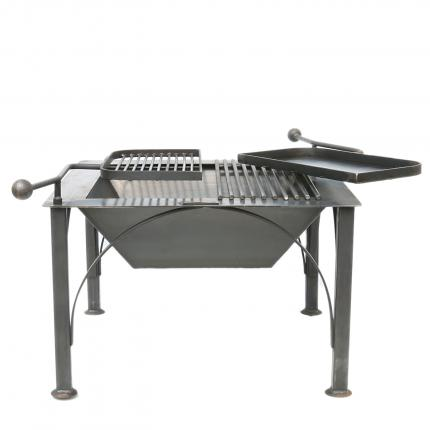 Clifton Nurseries New Box D Firepit - Swing Arms