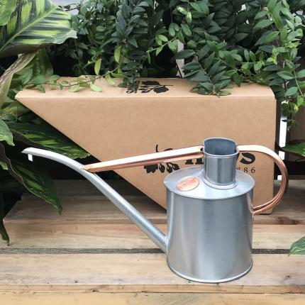 Haws Galvanised and Copper Watering Can at Clifton Nurseries
