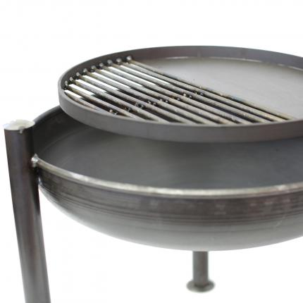 Clifton Nurseries Legs Eleven Firepit BBQ Included 60cm -Grill