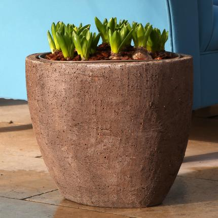 clifton nurseries mocha aster pot 38cm rustic garden pot