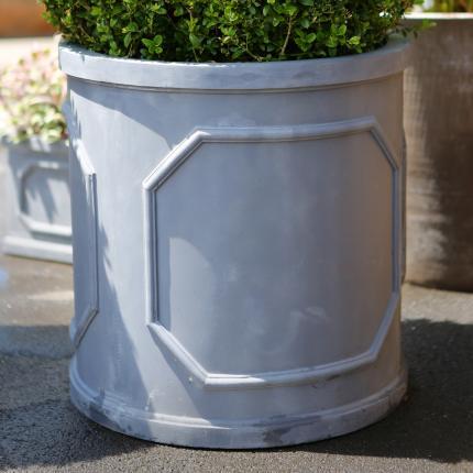 Clifton Nurseries Fibrestone Chelsea Cylinder Pot - Black