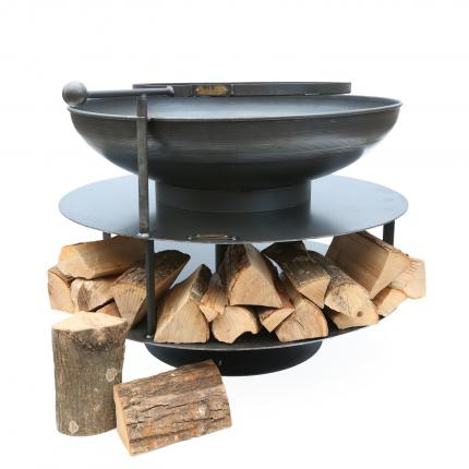 Clifton Nurseries Ring of Logs Fire Pit with Swing Grill Arm