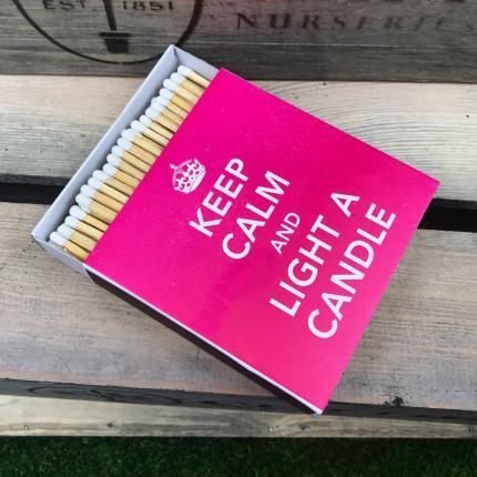 Clifton Nurseries Keep Calm Luxury Matches