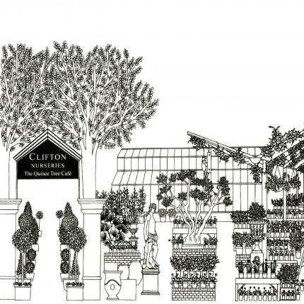 Clifton Nurseries Tea Towel
