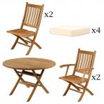 Clifton Nurseries Barlow Tyrie Ascot Teak Dinind Set Garden Furniture included