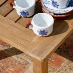 Clifton Nurseries Barlow Tyrie London Plantation Teak Set square Coffee table detail