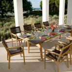 Clifton Nurseries barlow tyrie monterey teak ceramic outdoor 10 seater dining set