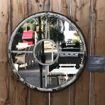 Clifton Nurseries Aldgate Home Aged White Architectural Panelled Mirror