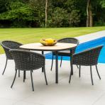 Alexander Rose Cordial Shaped Table with Roble Top at Clifton Nurseries