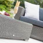 Clifton Nurseries alexander rose monte carlo grey weave set coffee table detail