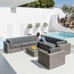 Clifton Nurseries alexander rose monte carlo grey weave casual outdoor sofa seating set
