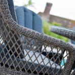 Clifton Nurseries alexander rose monte carlo grey open weave armchair detail