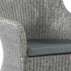 Clifton Nurseries alexander rose monte carlo grey weave curve armchair detail