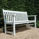 Clifton Nurseries alexander rose new england white garden bench 3 seater