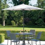 Clifton Nurseries Alexander Rose portofino aluminium parasol angled