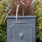clifton nurseries clayfibre tall lion head detail garden pots