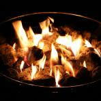Clifton Nurseries Firepits Saturn Collection Flames