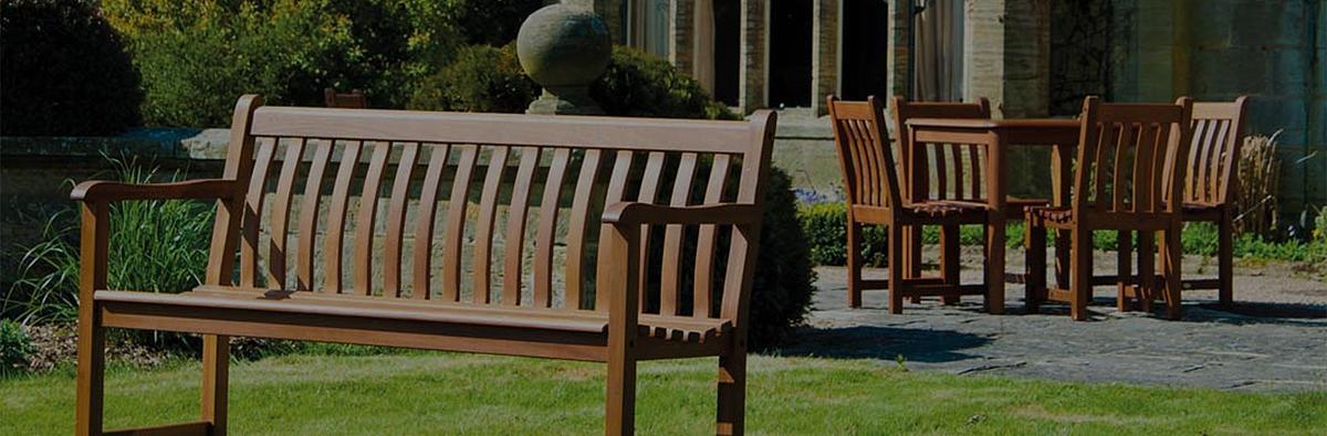 Alexander Rose Cornis Broadfield hardwood 4ft bench