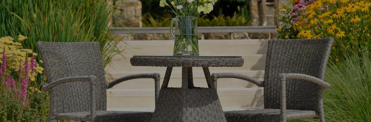 Clifton Nurseries alexander rose monte carlo weave side table 60cm
