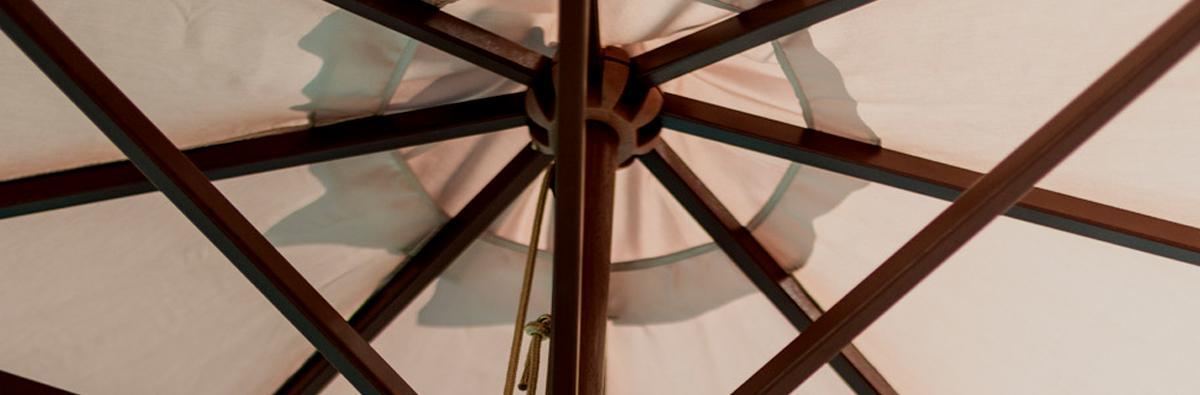 Alexander Rose Hardwood Round Parasol 3m at Clifton Nurseries