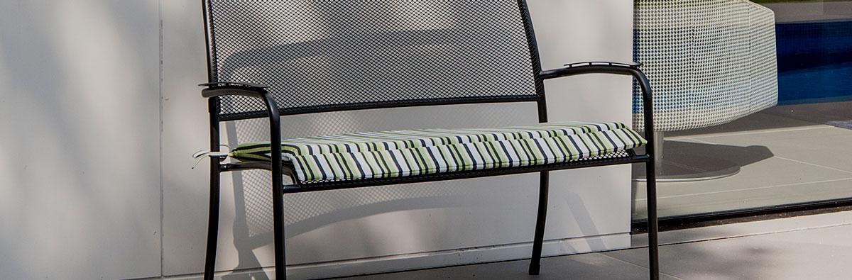 Clifton Nurseries Alexander Rose Portofino Collection Bench Cushion Lime Stripe