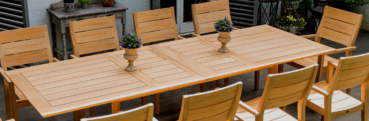 Clifton Nurseries Alexander Rose Roble Extending Table (Chairs not included)