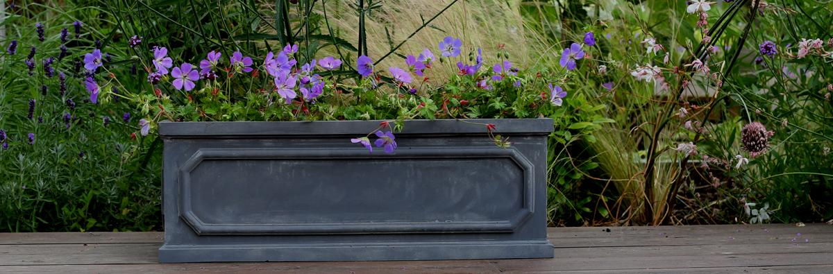 Clifton Nurseries - Pot Company Fibrestone Chelsea Trough 60cm
