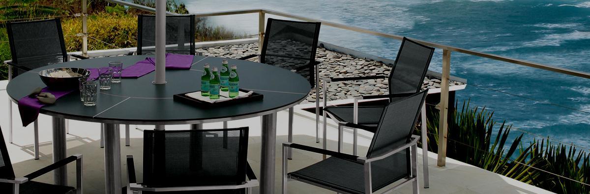 Clifton Nurseries Barlow Tyrie  Furniture in Mercury Ceramic 8 Seater Dining Set