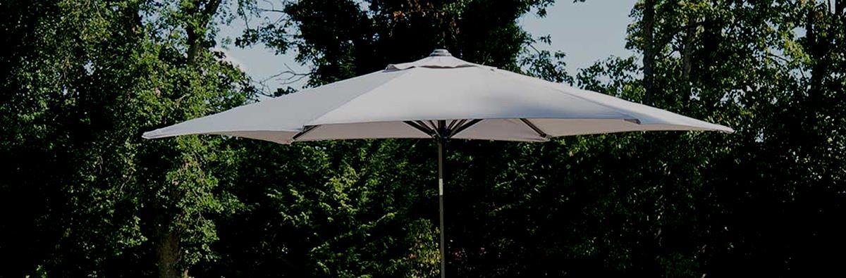 Clifton Nurseries Alexander Rose portofino aluminium parasol grey