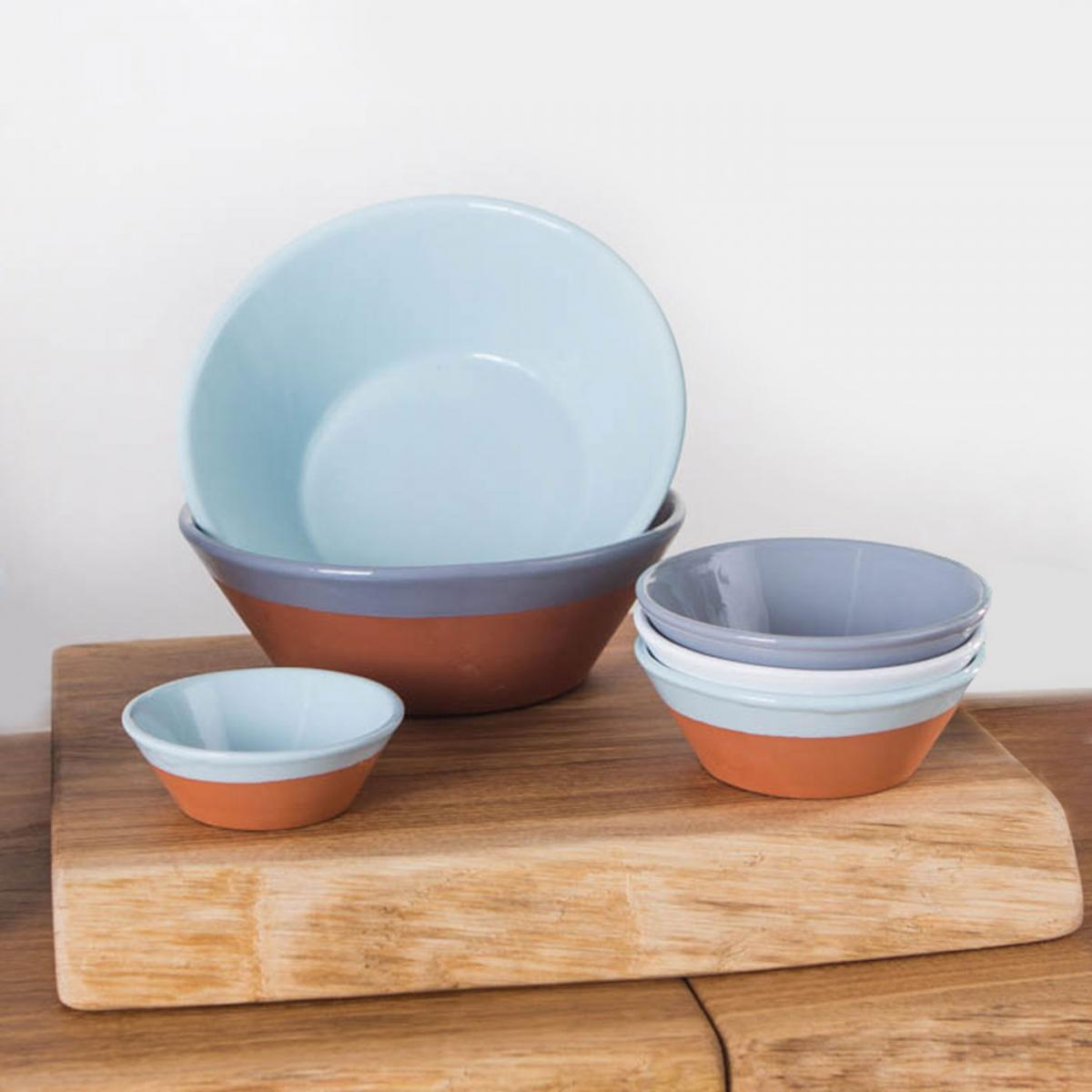 Clifton Nurseries Verano Spanish Ceramics Rustic Pastel - Bowl Set & Verano Spanish Ceramics Rustic Pastel Side Bowl