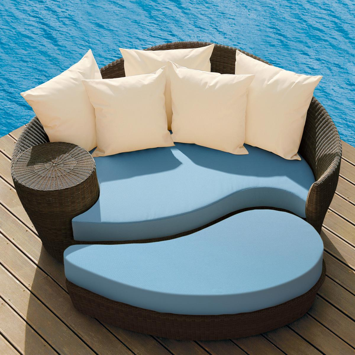 barlow tyrie dune straw daybed set - clifton nurseries barlow tyrie dune daybed java sky blue cushions