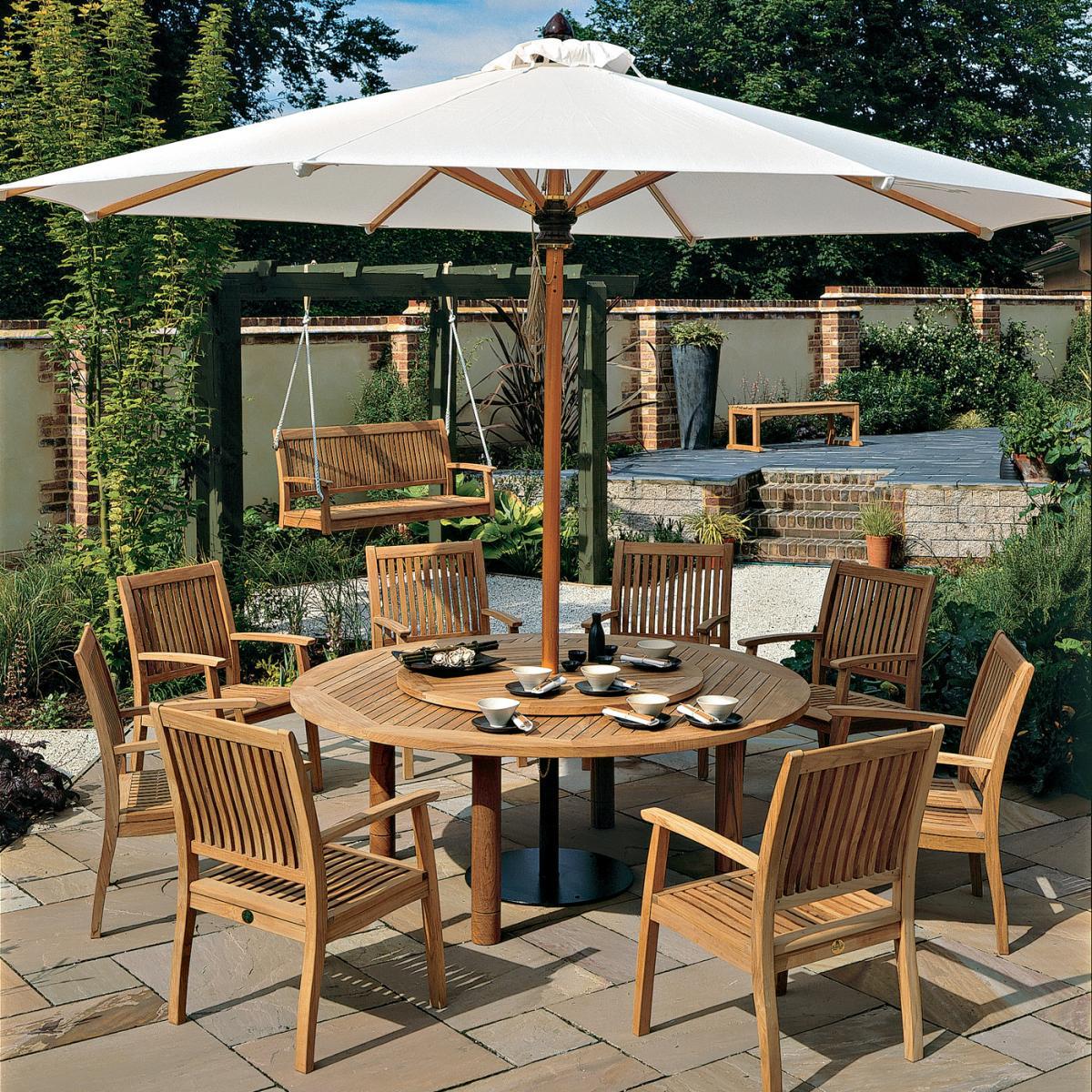 garden furniture  clifton nurseries - clifton nurseries barlow tyrie monaco  seater teak garden dining set