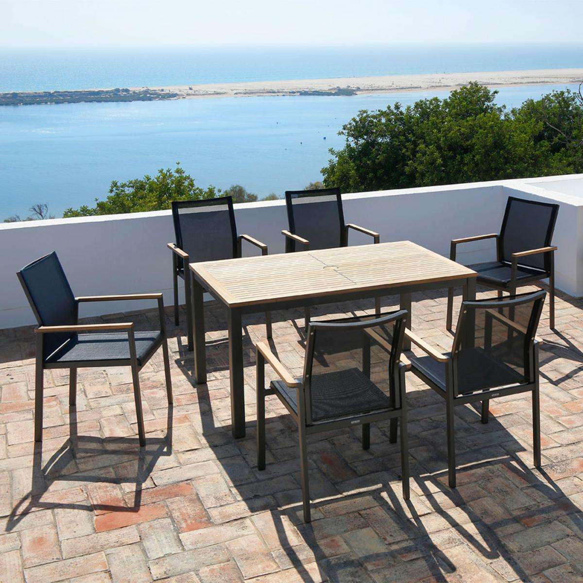 Barlow Tyrie Aura Six Seater Dining Set
