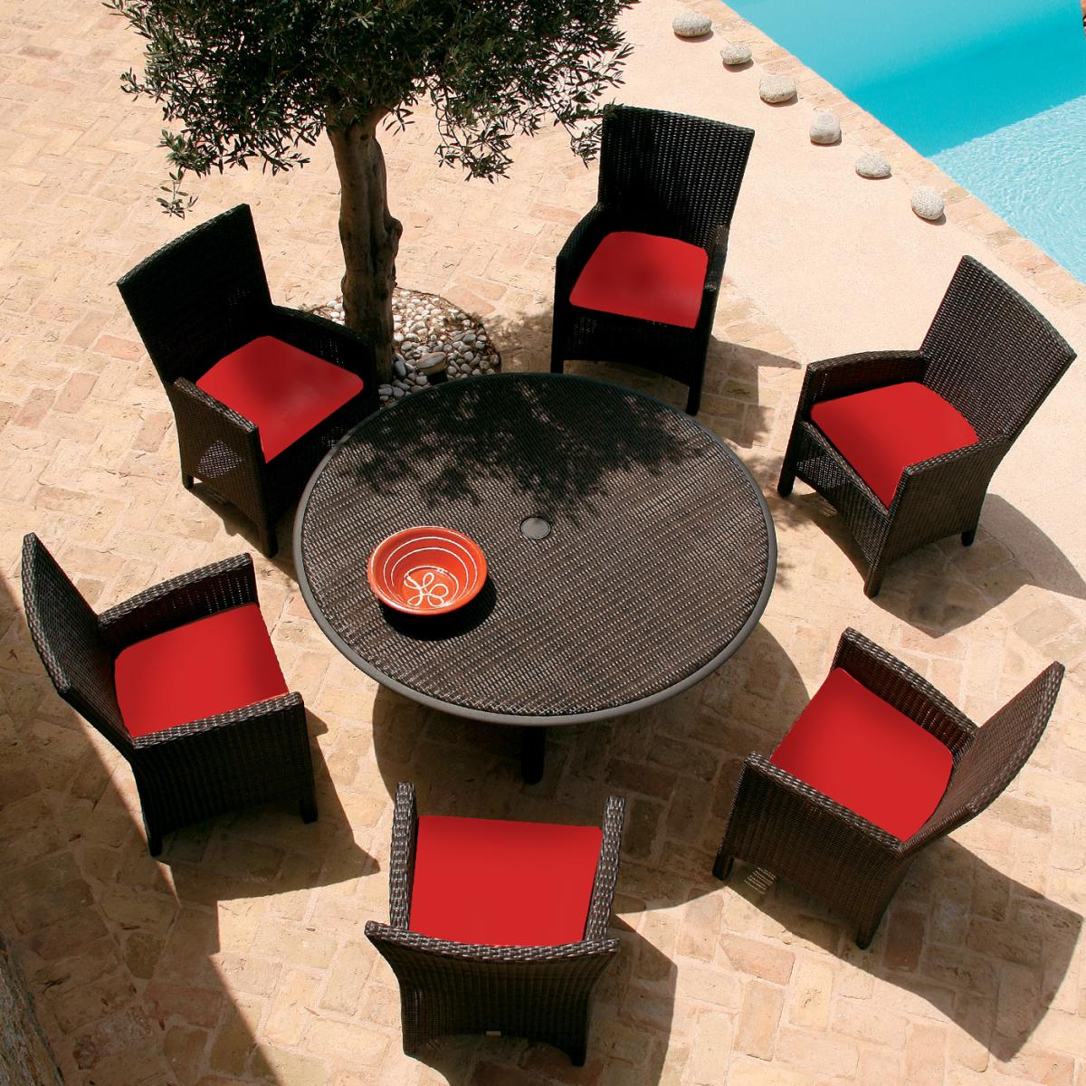 View The Full Image Clifton Nurseries Barlow Tyrie Savannah 6 Seater  Outdoor Dining Set