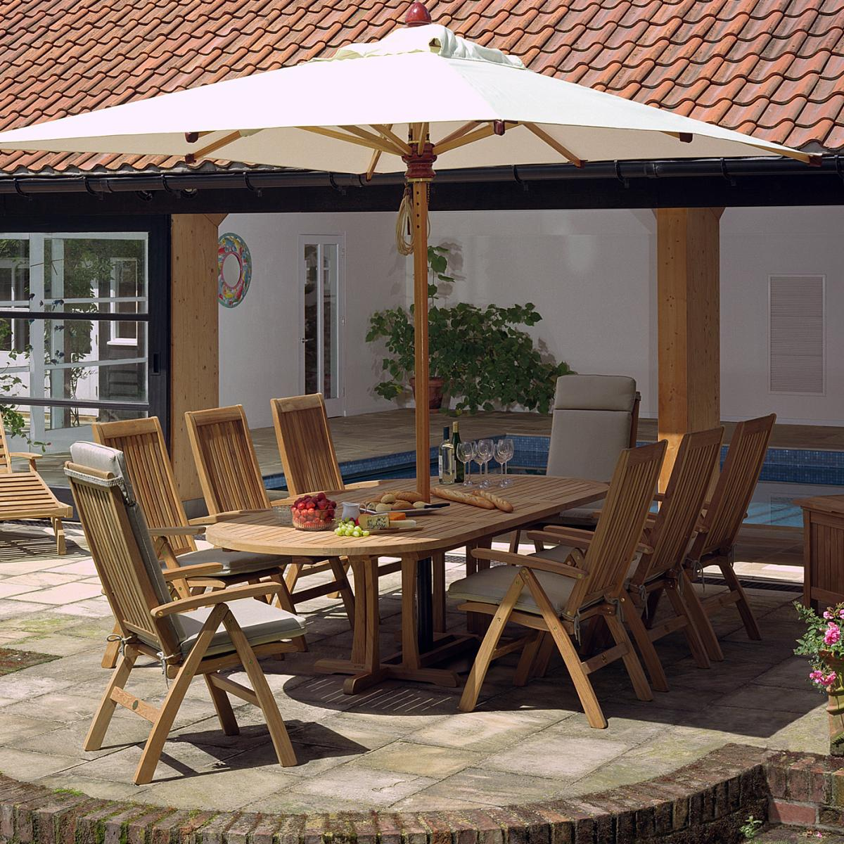 8 seat dining table. View The Full Image Clifton Nurseries Barlow Tyrie Stirling Teak Extending 8 Seat Dining Set Table