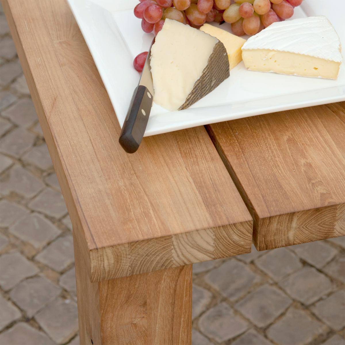 View The Full Image Clifton Nurseries Barlow Tyrie Titan Outdoor Hardwood  Teak Dining Table