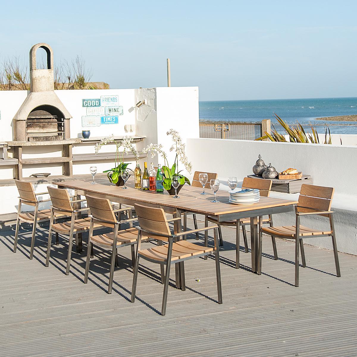 alexander rose cologne 8 seat dining set. Black Bedroom Furniture Sets. Home Design Ideas