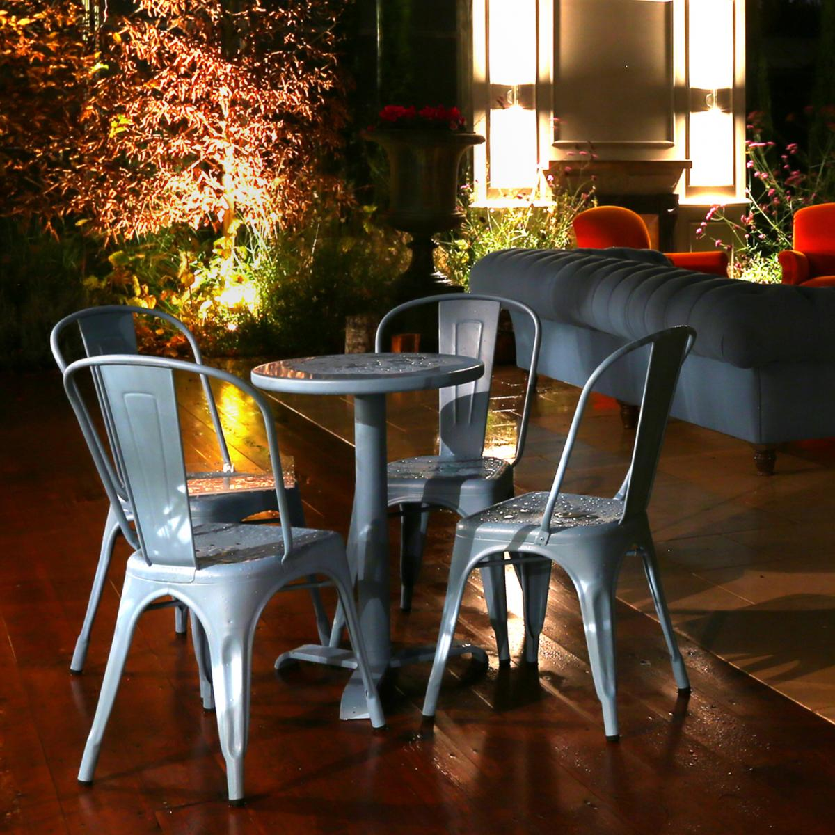 Tolix Table And Chairs Patio Suite Clifton Nurseries