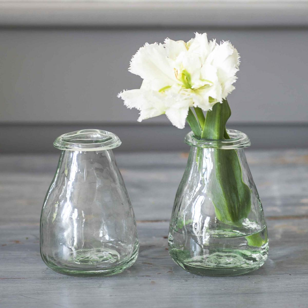 Recycled glass bud vases set of 2 11cm clifton nurseries clifton nurseries trading glass vase reviewsmspy
