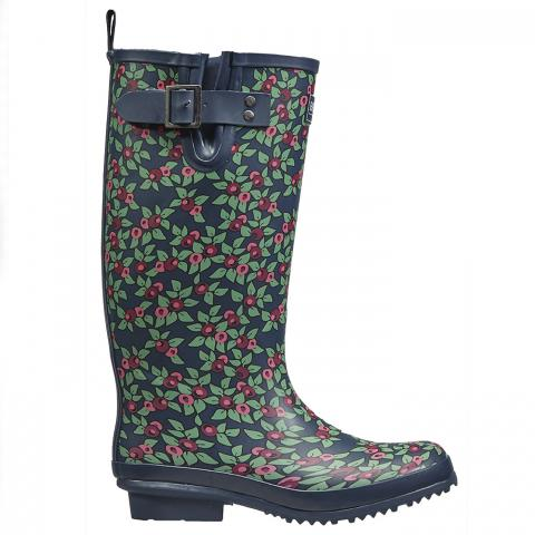 Clifton Nurseries briers wellington boot floral plum pattered