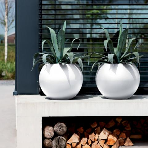 Clifton Nurseries Elho Pure Ball Planter White