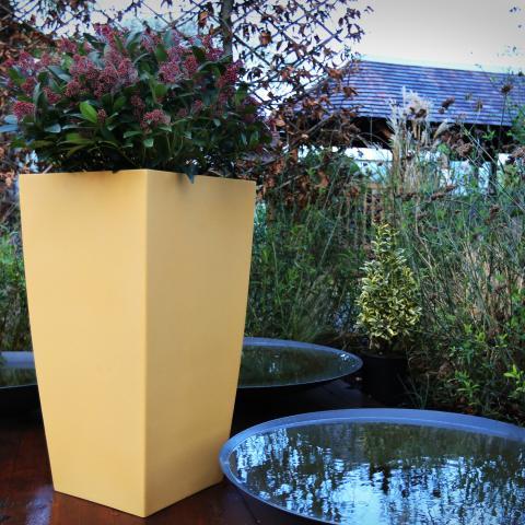 Clifton Nurseries living green kubik planter sandstone 50cm