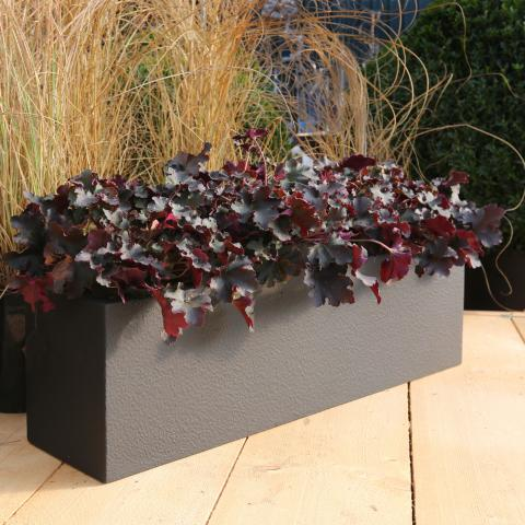 Clifton Nurseries window box textured black 80cm planter