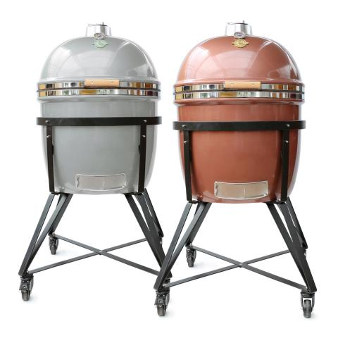 Grill Dome Kamado Grill & BBQ - Extra Large (Silver & Copper)