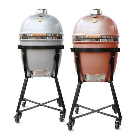Grill Dome Kamado Grill & BBQ - Large (Silver & Copper)