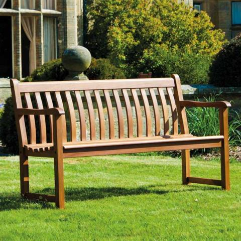Alexander Rose Cornis Broadfield hardwood 4ft bench garden