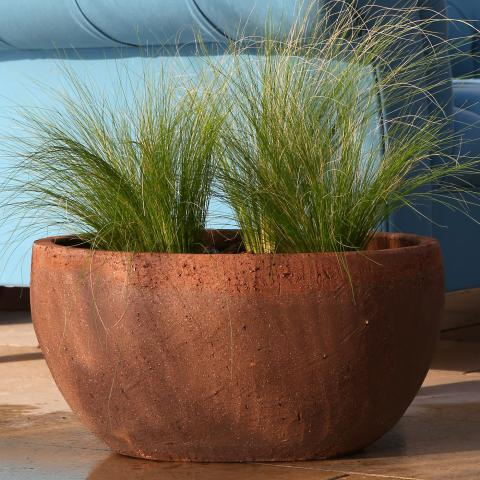 clifton nurseries mocha aster bowl 46 cm garden pot with a rustic natural look