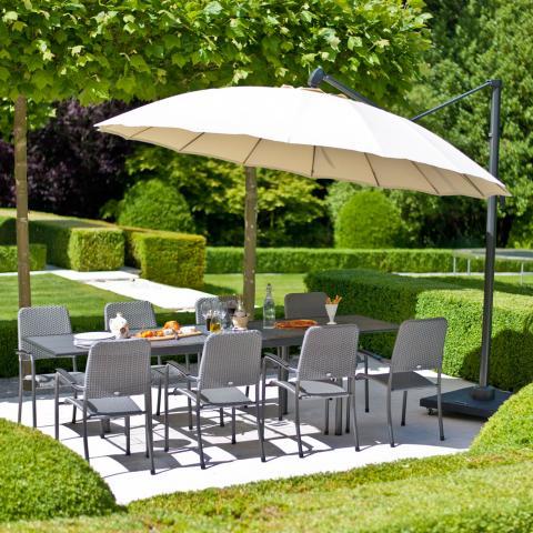clifton nurseries alexander rose round 3.0 meter diameter aluminium cantilever parasol UH30 garden furniture