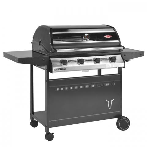 Clifton Nurseries 1000R Series 3 Burner BBQ Hood Metal Trolley and Side Burner