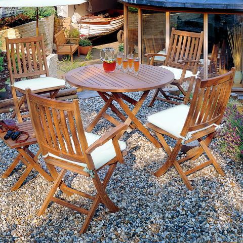 Clifton Nurseries Barlow Tyrie 4 Seater Ascot Teak Folding Dining Set